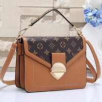 LV Louis Vuitton Hot Sale Women Shopping Bag Leather Shoulder Bag Crossbody Satchel Brown