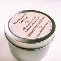 Toasted Marshmallow Soy candle,Soy Candle Tin, Scented Soy Candles, Hand Poured Soy Candles, Soy Candles Handmade