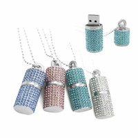 8G Crystal Encrusted USB Flash Drive Memory Stick