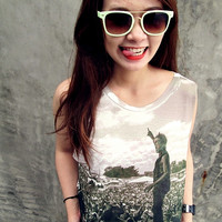 Of Mice And Men Women Shirt Girl Tank Tops White - Size S M L