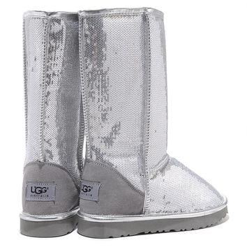 """""""UGG"""" Women Fashion Sequins Wool Snow Boots Shoes"""