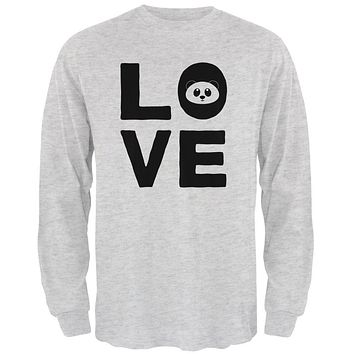 Panda Love Series Mens Long Sleeve T Shirt