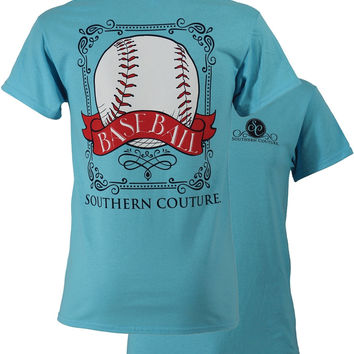 SALE Southern Couture Preppy Vintage Baseball Sports Girlie Bright T Shirt