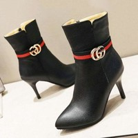 {FREE SHIPPING] GUCCI Fashion Pointed High Heels Shoes/Boots