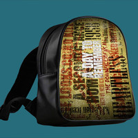 A Day To Remember Song for Backpack / Custom Bag / School Bag / Children Bag / Custom School Bag *