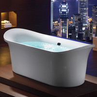 "EAGO AM1900  74 3/4"" White Free Standing Air Bubble Bathtub"