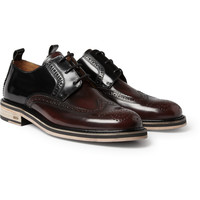 AMI Two-Tone High-Shine Leather Brogues | MR PORTER