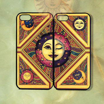 Sun Couple Case-iPhone 5 case, iphone 4scase, 4 case,ipod touch 5  Samsung GS3 GS4, Ipod5-Silicone Rubber or Hard Plastic Case, Phone cover