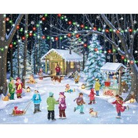 Woodland Skaters Christmas Jigsaw Puzzle - Puzzle Haven