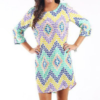 Starburst Tunic, Purple-Green