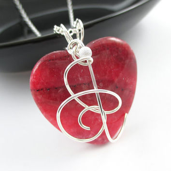 Silver wrapped Rhodochrosite necklace