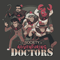 Society of Adventuring Doctors Art Print by The Cracked Dispensary