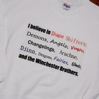 Supernatural Monsters and Winchesters Sweatshirt. Customize To Size And Color.