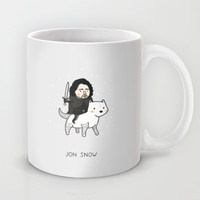 Jon Snow, Game of Thrones Mug by Jarvis Glasses