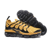 2018 Nike Air VaporMax Plus TN Yellow Black Sport Running Shoes
