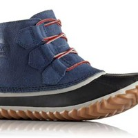 Sorel Out N About Leather Boots for Women in Dark Mountain 1702141-478