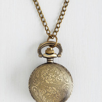 Vintage Inspired Today's Timeline Necklace in Bronze by ModCloth