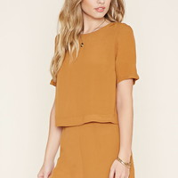 Layered Crepe Romper   Forever 21 - 2000155554
