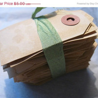 Big Fat Sale Lot of 25 LaRgE GrUnGy bLaNk Hang Tags Dyed Baked for Favors Bags Gift Tag