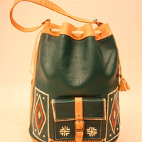 MARNA 50 Moroccan Native Aztec Geometric Leather by blacksheepVL