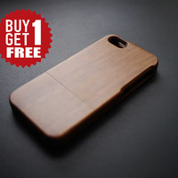 Plain Walnut Wood Case for iPhone 4/4s/5/5s/5c, Real Wood iPhone 5 / 5S Case , Natural Wood iPhone 4 / 4S Case , iPhone 5C Case Wood