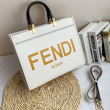 Fendi fashion big-capacity tote travel bag single-shoulder cross-body shopping bag for ladies