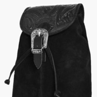 Isla Boutique Leather Buckle Detail Backpack | Boohoo