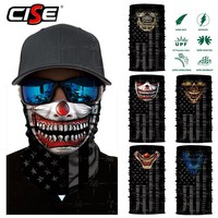 Skull Skulls Halloween Fall 3D Seamless  Balaclava Magic Neck Face Mask Ghost Skeleton Motorcycle Moto Face Shield Anti-UV Scarf Sun Mask Women Men Calavera
