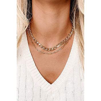 The Finer Things Layered Necklace (Gold)