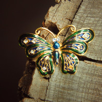 Gothic Butterfly Brooch #5384