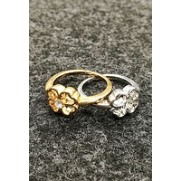 Fashion Women Alloy plating diamond ring with diamond ring crown, ring crown