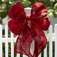 RED RIBBON OUTDOOR DECOR