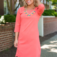 Amore To Love Dress, Coral