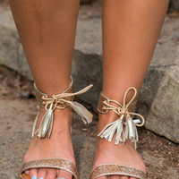 Good As It Glitz Sandals, Gold