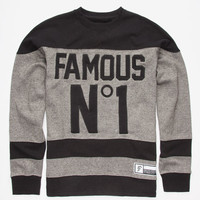 Famous Stars & Straps Hat Trick Mens Sweatshirt Black  In Sizes