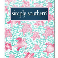 Simply Southern Turtle Pocket Folder - Pink/Blue