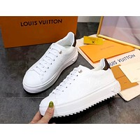 LV 2019 new personality female models wild white shoes