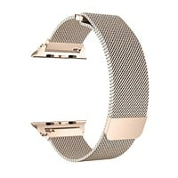 Stainless Steel Mesh Milanese Loop for Apple Watch Band 40/38mm, Adjustable Magnetic Closure Replacement iWatch Band for Apple Watch Series 4 3 2 1 (40/38mm Gold)
