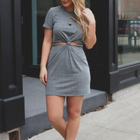 Warp Speed to Summer Dress - Charcoal