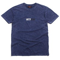 Stonewashed Logo T-Shirt Dark Blue