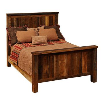 Barnwood Traditional Bed - Queen