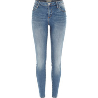 River Island Womens Mid authentic wash Amelie superskinny jeans