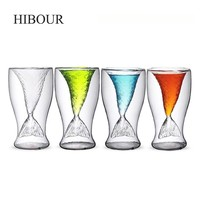 HIBOUR Mermaid Glass Wine Shot Glass for Vodka Shot Glasses Beer Mugs Crystal Mermaid Cup Glass Mug Drinking Party Cups 100mL