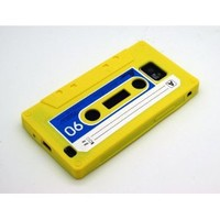 Trend Line Samsung Galaxy S2 i9100 Restro Cassette Tape Silicone Case - Yellow with Free Case Square Mobile Screen Cleaner with Signal Blinker