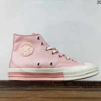 Kuyou Fa19630 Converse 1970s Pink High Top Canvas Shoes For Women
