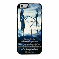 jack skeleton and sally love quotes case for iphone 6 plus 6s plus