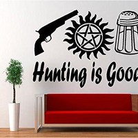 Supernatural Anti Possession Hunting is Good Vinyl Decal Sticker for Car Laptop Wall Truck Windows