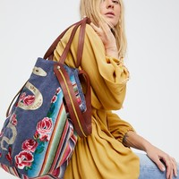 Free People Pandora Embroidered Tote