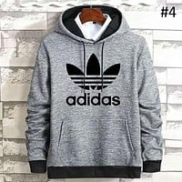 ADIDAS clover men's casual sportswear hooded sweater coat #4