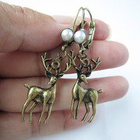 Cute, retro, deer earrings, special gift,best gift for you or friends